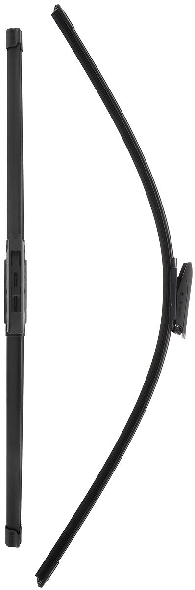 Щетка стеклоочистителя Bosch A119S, бескаркасная, со спойлером, длина 65/75 см, 2 шт щетки угольные rd 2 шт для bosch 1607014172 5х10х17мм autostop 404 302