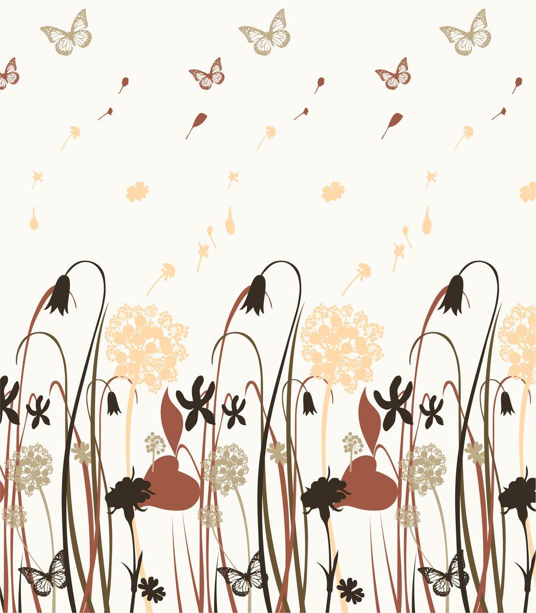 Фото - Штора для ванной комнаты Vanstore Поле, цвет: белый, бежевый, 180 х 180 см штора для ванной комнаты tatkraft stone garden 180 х 180 см
