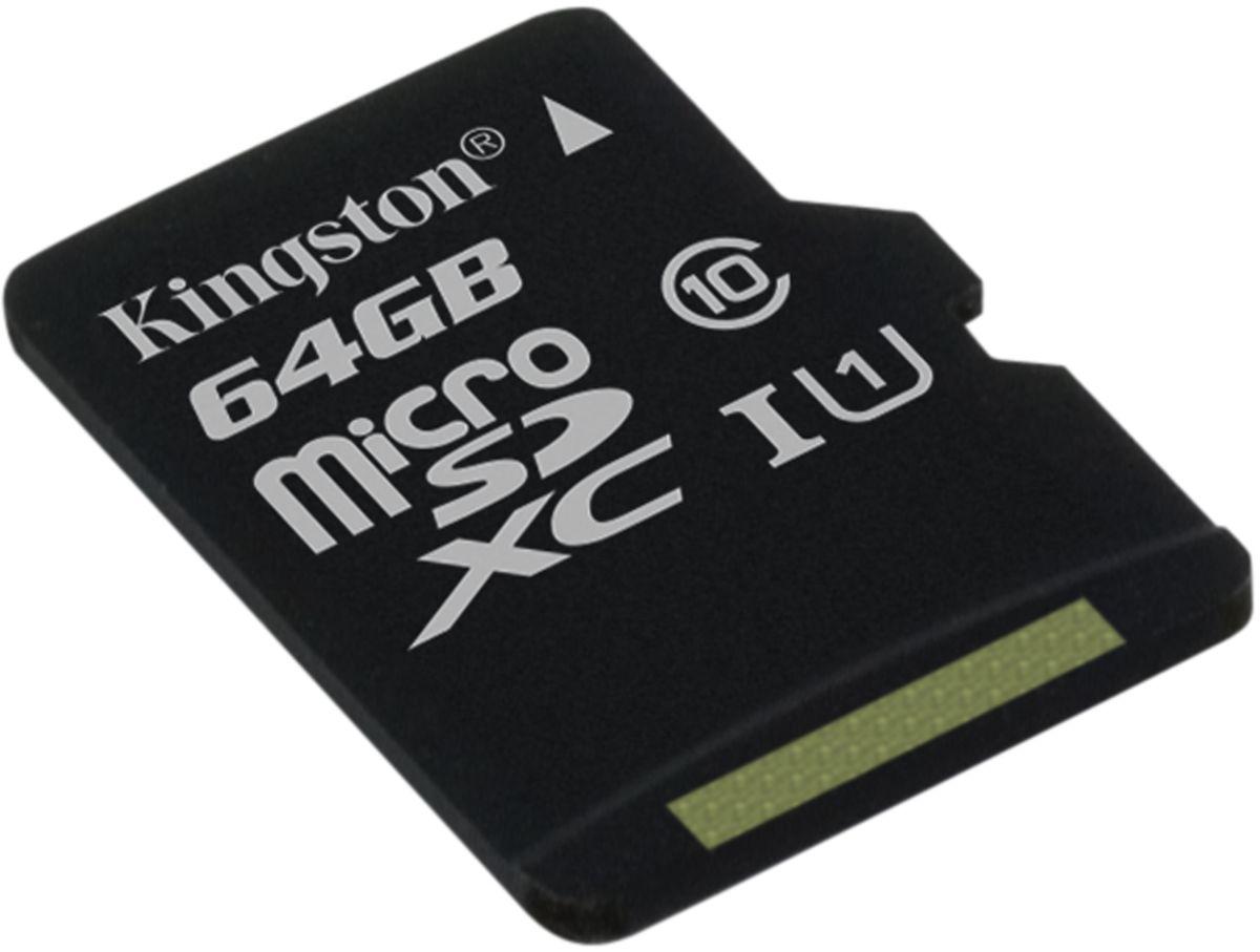 Kingston microSDXC Class 10 UHS-I 64GB карта памяти (45/10 Мб/с) цена