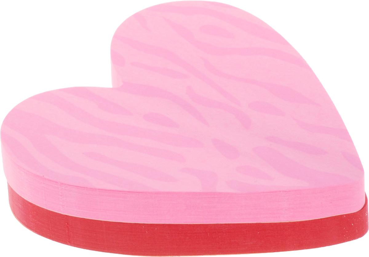 Post-it Бумага для заметок Сердце с липким слоем цвет розовый красный 150 листов