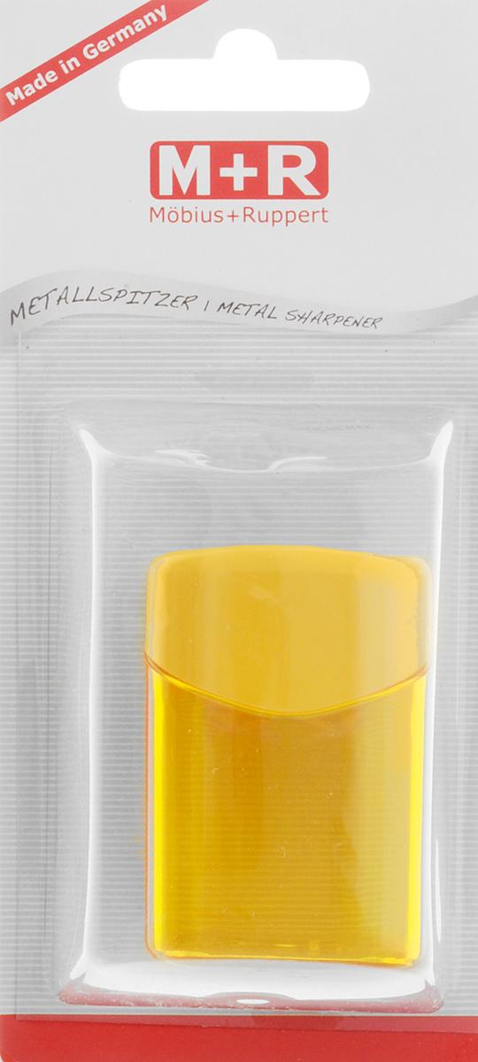 M+R Точилка Quattro Swing с контейнером цвет желтый m r m r точилка металлическая