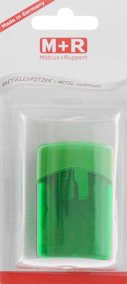 M+R Точилка Quattro Swing с контейнером цвет зеленый m r m r точилка металлическая