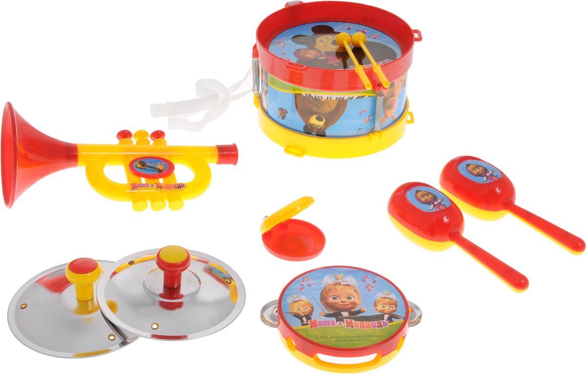 Играем вместе Набор музыкальных инструментов Маша и Медведь 10 предметов музыкальные игрушки маша и медведь набор музыкальных инструментов gt5844