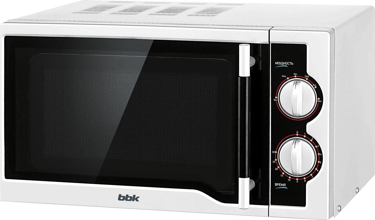 лучшая цена Микроволновая печь BBK 20MWS-712M/WB, White Black