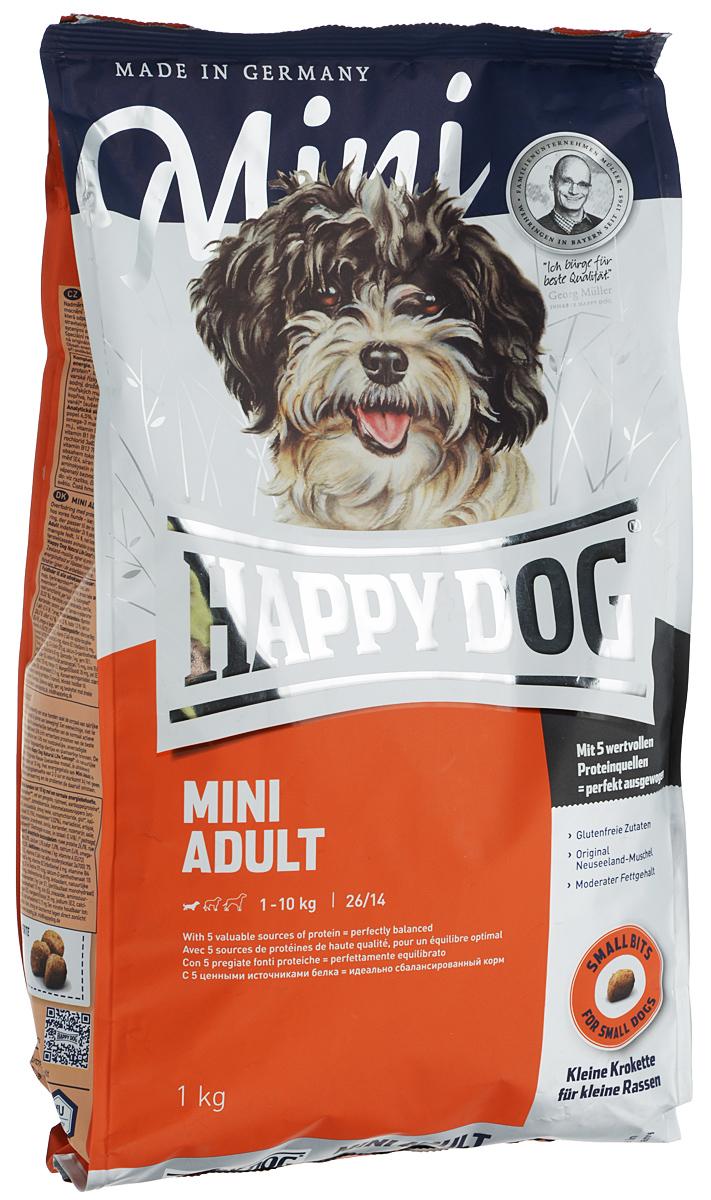 """Корм сухой Happy Dog """"Mini Adult"""" для взрослых собак маленьких пород, 1 кг"""