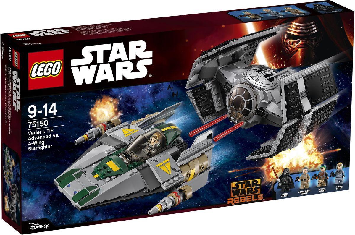 LEGO Star Wars Конструктор Усовершенствованный истребитель СИД Дарта Вейдера против Звездного Истребителя A-Wing 75150
