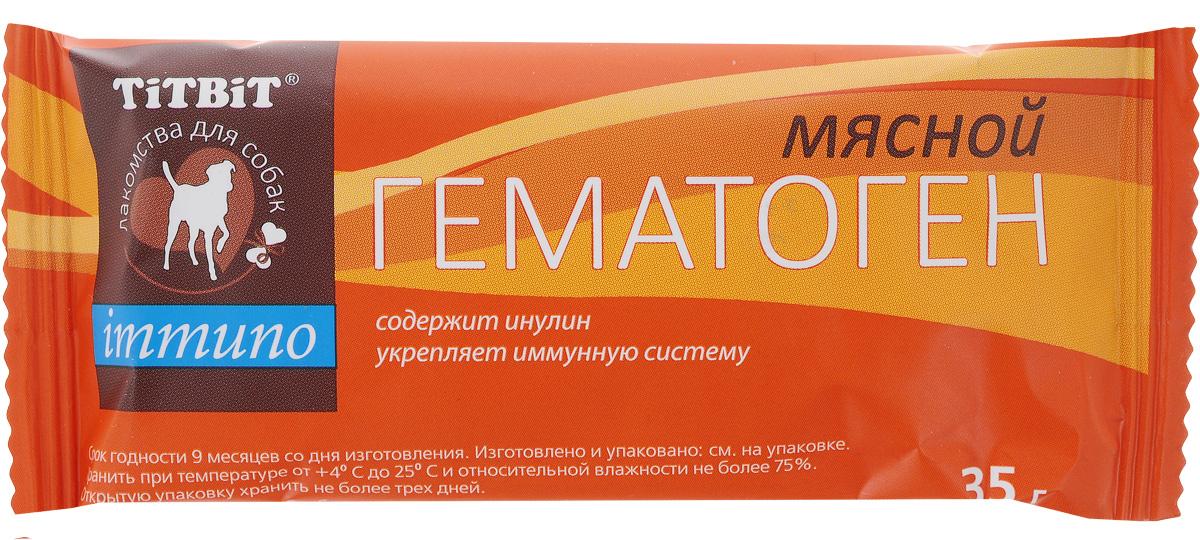 """Лакомство для собак Titbit """"Immuno"""", гематоген мясной, 35 г"""