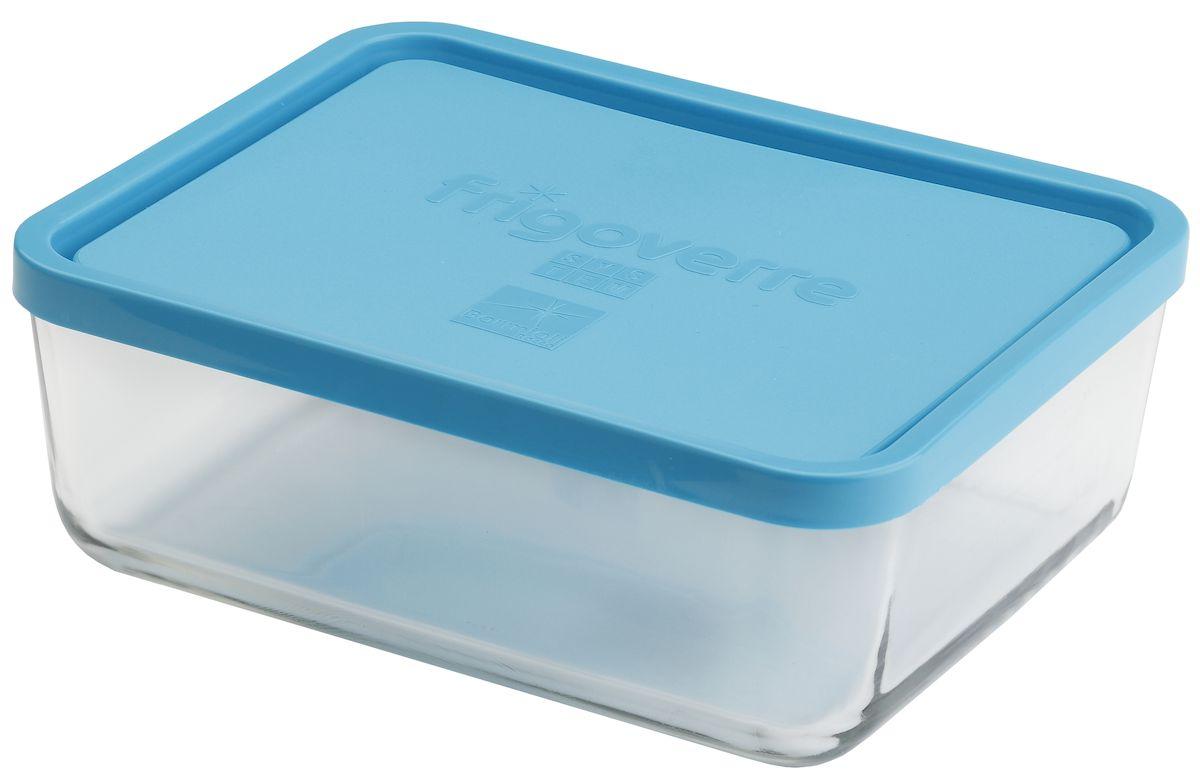 """Контейнер Bormioli Rocco """"Frigoverre"""", прямоугольный, цвет: синий, прозрачный, 3000 мл"""