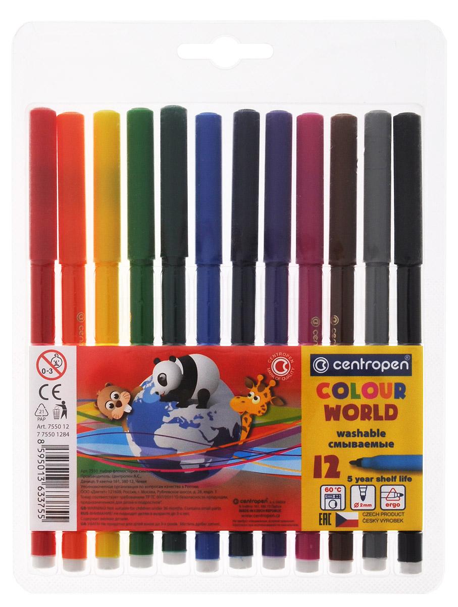 Фото - Centropen Набор фломастеров Colour World 12 цветов centropen набор смываемых фломастеров colour world 18 цветов