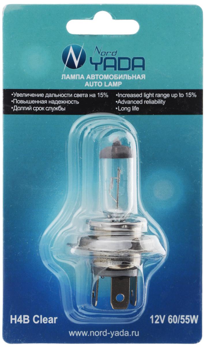 """Лампа автомобильная галогенная Nord YADA """"Clear"""", цоколь H4B, 12V, 60/55W. 902142"""
