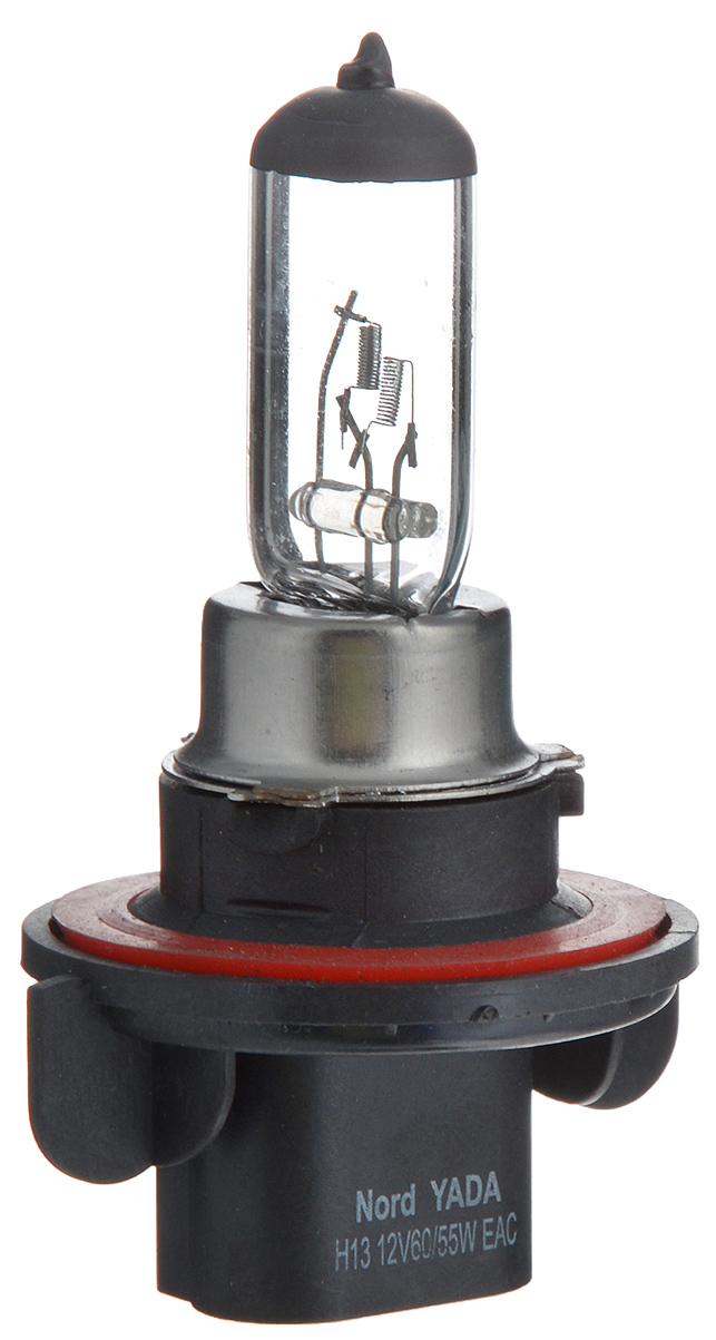 """Лампа автомобильная галогенная Nord YADA """"Clear"""", цоколь H13, 12V, 60/55W"""