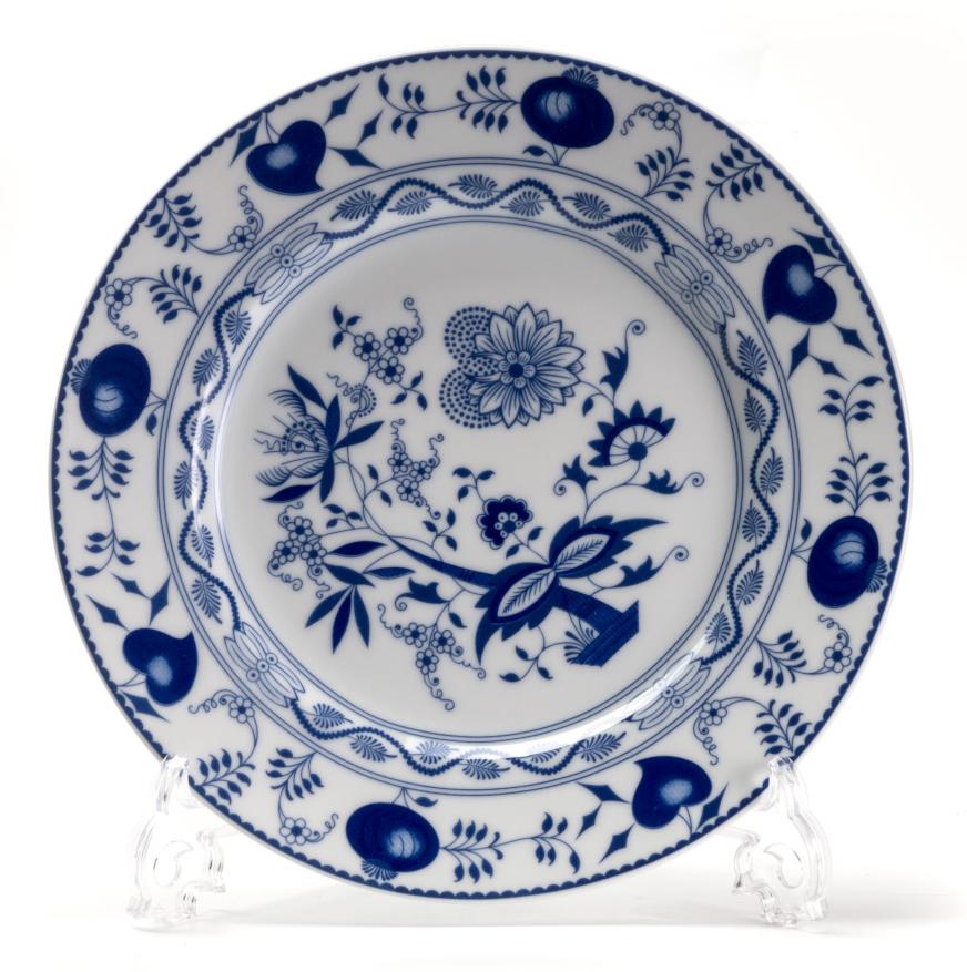 Тарелка десертная La Rose des Sables Ognion Bleu, диаметр 22 см салатник круглый 13 см la rose des sables mimosa didon or 533913 1645