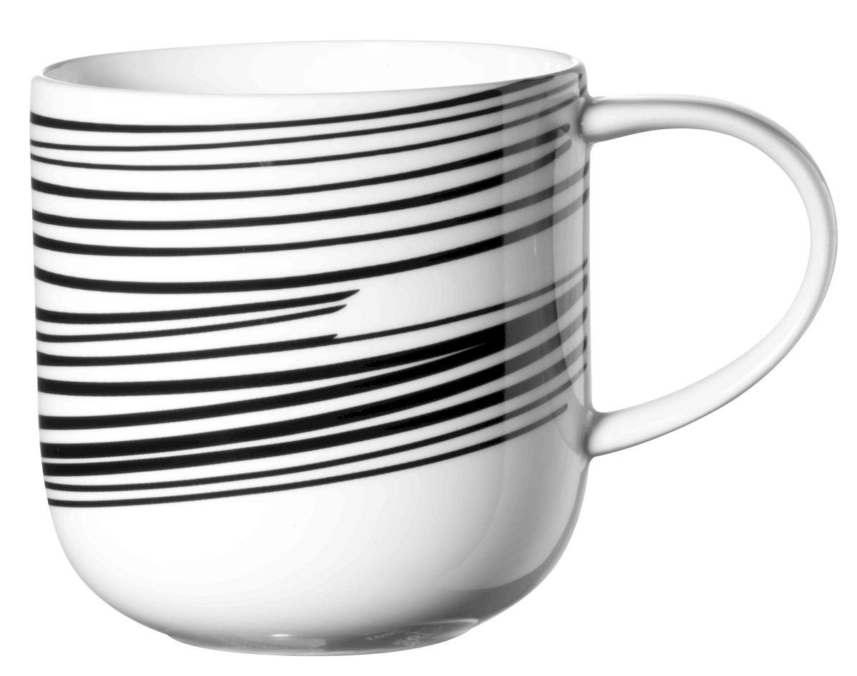 """Кружка Asa Selection """"Coppa. Полоски"""", цвет: черный, белый, 400 мл. 19105/014"""