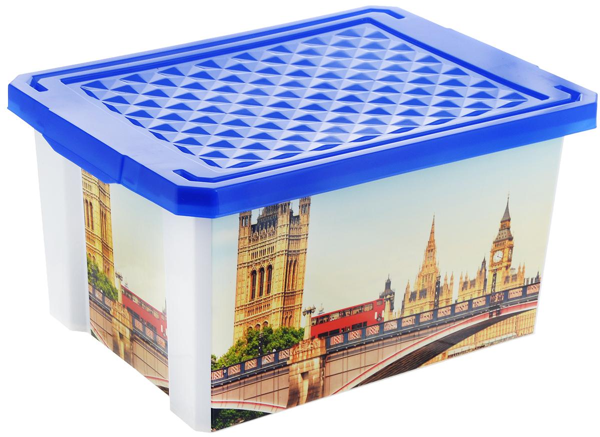 Ящик для хранения BranQ Optima. Англия, 17 л ящик для хранения branq optima на колесиках цвет синий прозрачный 57 л
