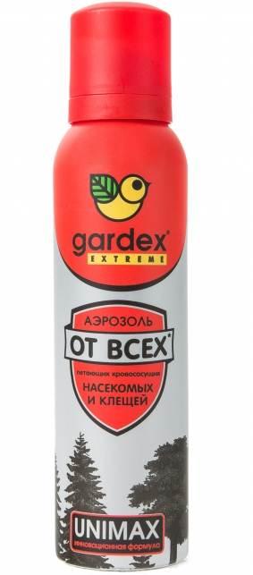 Аэрозоль Gardex Extreme от всех летающих кровососущих насекомых и клещей, 150 мл средство акарицидное защита от клещей super picnic 125 мл
