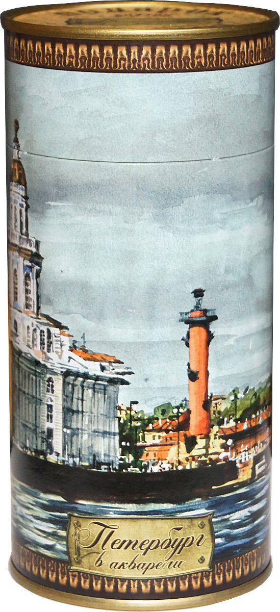 Избранное из моря чая Петербург в акварели. Стрелка Васильевского острова чай черный листовой, 75 г избранное из моря чая коллекция долька зимние забавы чай черный листовой 50 г
