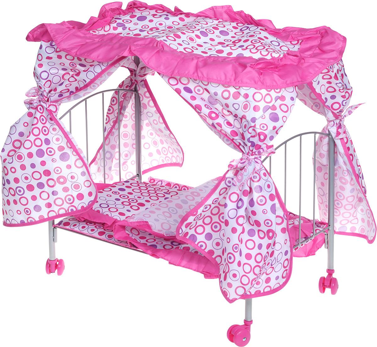 кроватки для кукол Bon Bon Berry Кроватка с балдахином для кукол