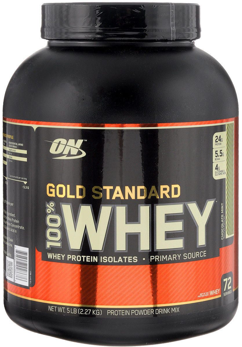 цена на Протеин Optimum Nutrition 100% Whey Gold Standart, шоколад-метол, 2,27 кг