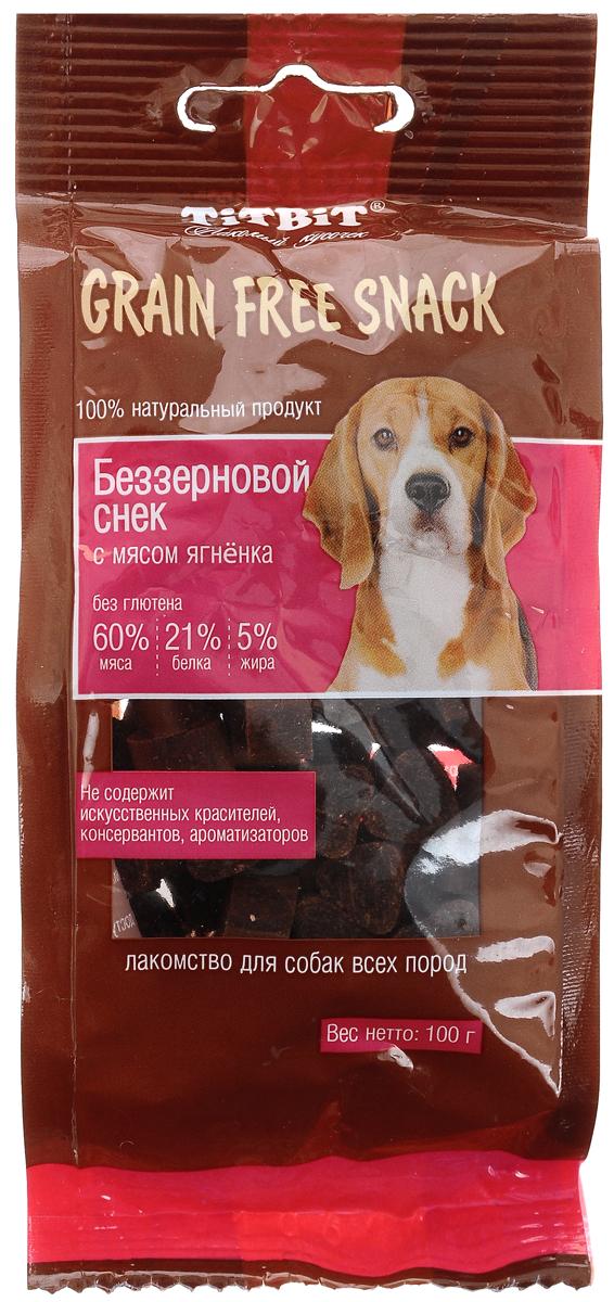 Лакомство для собак Titbit Grain Free, беззерновые снеки с мясом ягненка, 100 г лакомство titbit вырезка из мяса ягненка для собак малых пород 50 г