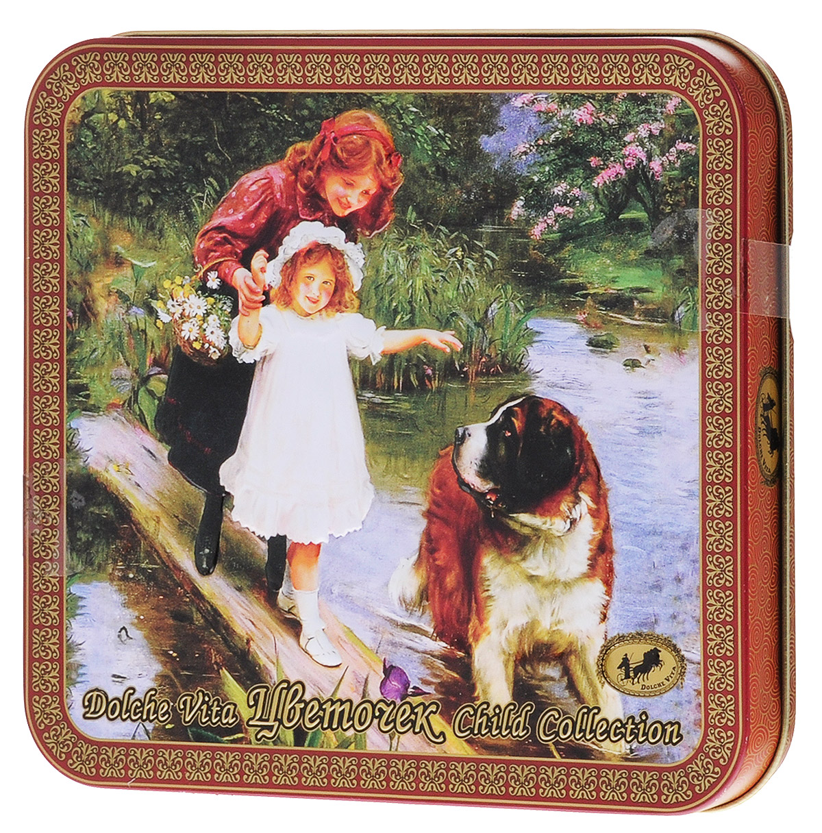 Dolche Vita Цветочек черный и зеленый листовой чай, 100 г (подарочная шкатулка) dolche vita от всего сердца подарочный набор 3 вида чая 120 г