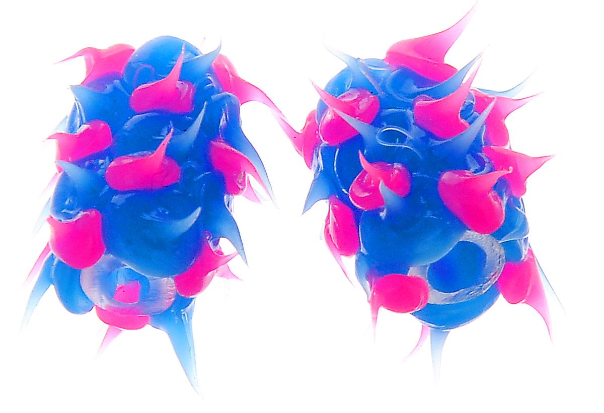 Бусины Астра Лалапусики, цвет: голубой, розовый, 8 х 15 мм, 2 шт
