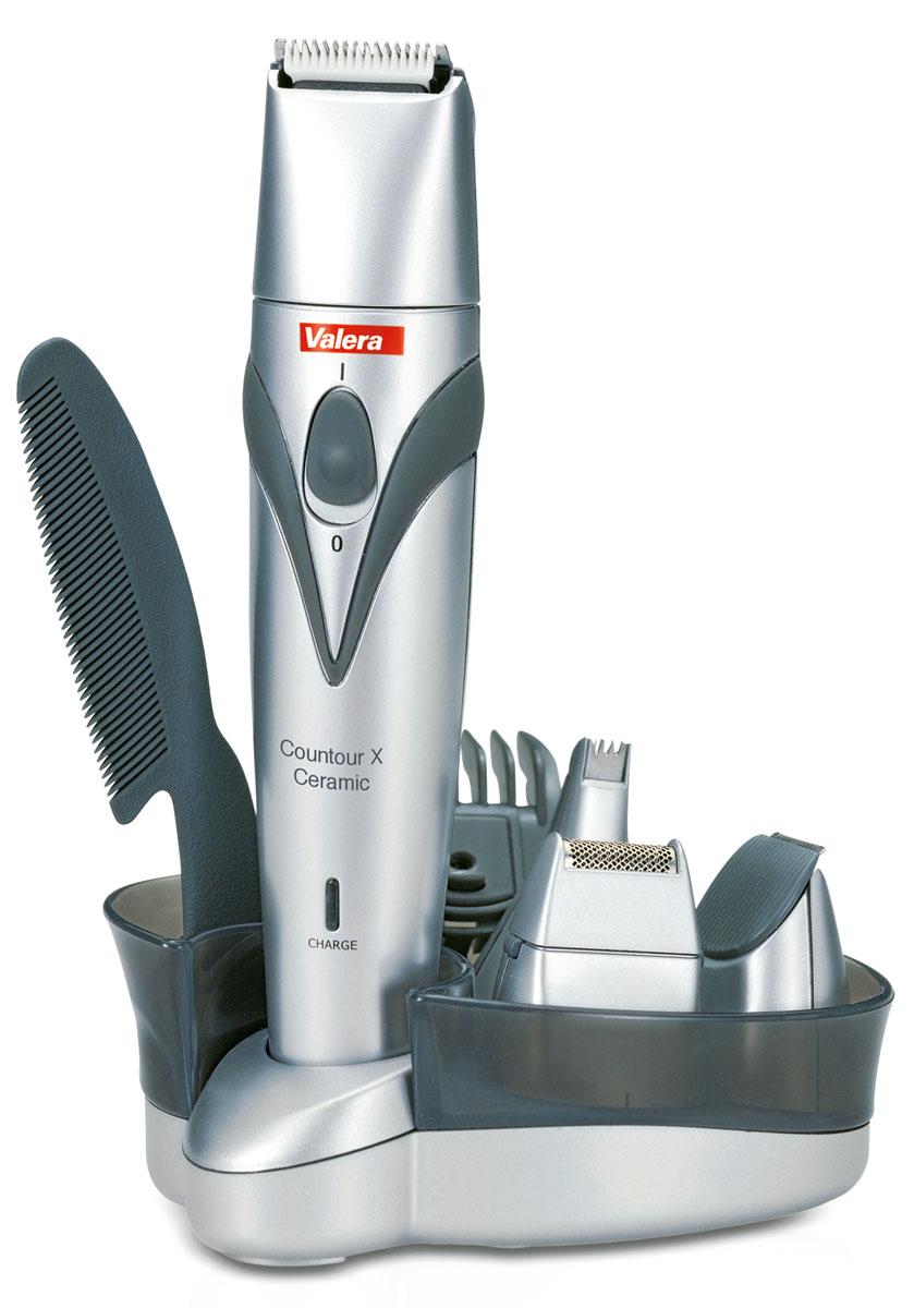 все цены на Valera 625.01 Contour X Ceramic, Silver машинка для стрижки волос и бороды онлайн