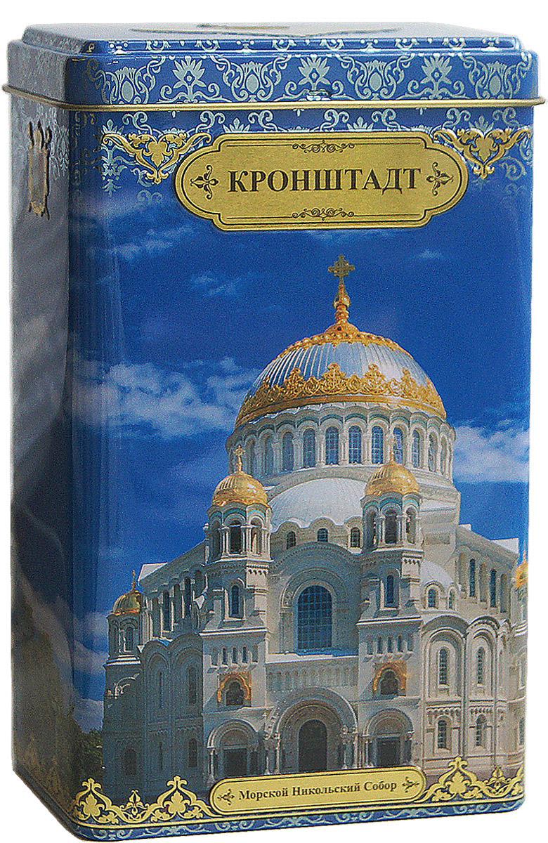 Избранное из моря чая Кронштадт. Морской Никольский собор чай черный листовой, 75 г избранное из моря чая коллекция долька зимние забавы чай черный листовой 50 г