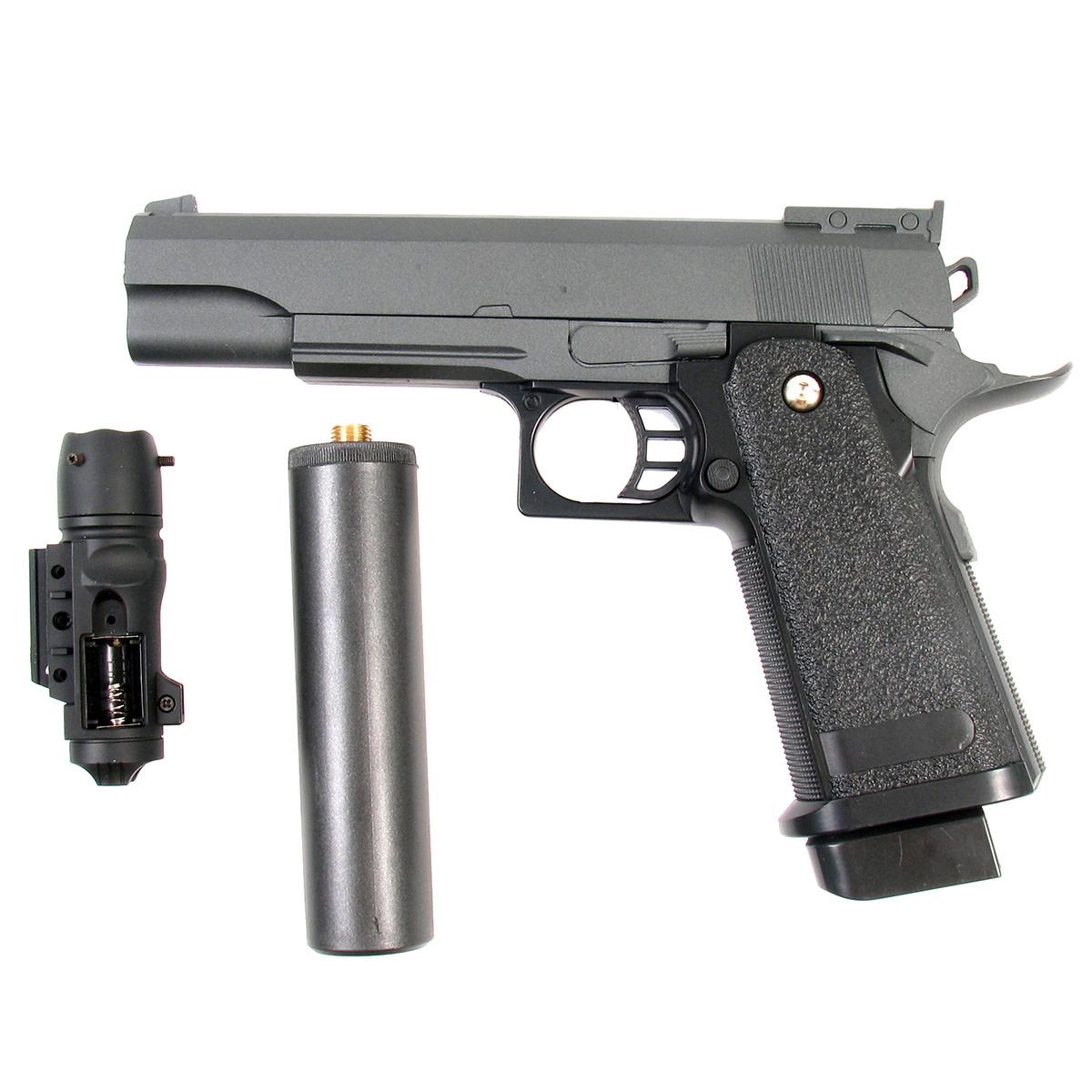 Пистолет страйкбольный Galaxy G.6A, пружинный, 6 мм пистолет страйкбольный galaxy g 3 пружинный 6 мм