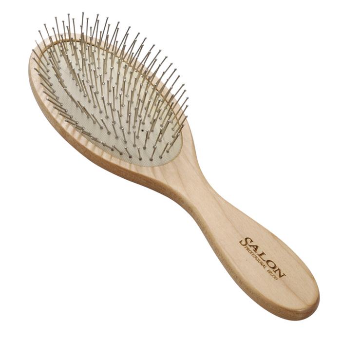 Щетка массажная Salon Professional 72150A, деревянная, зубцы - металлические штифты, L 225 мм