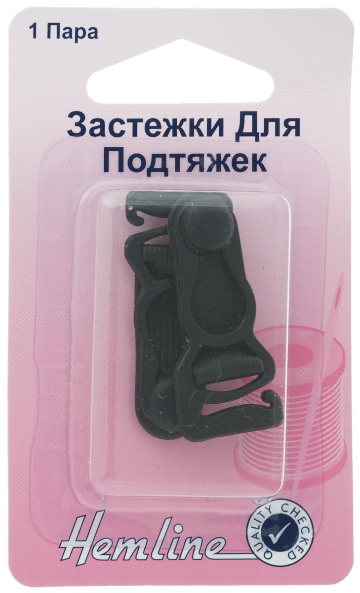 Застежки для чулок Hemline, цвет: черный, 2 шт кольца для строп hemline 32 мм 2 шт
