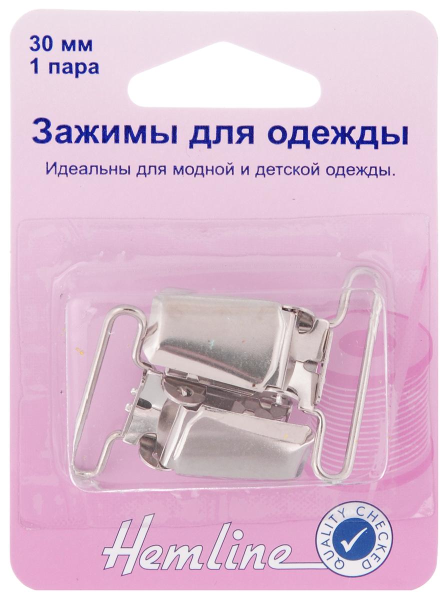 Зажимы для одежды Hemline, цвет: никель, 2 шт мат для аппликаций hemline 30 х 31 см