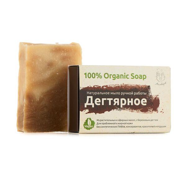 Мыловаров Натуральное мыло для лица и тела Дегтярное, 80 гр мыловаров натуральное мыло огуречное 2штx80 г