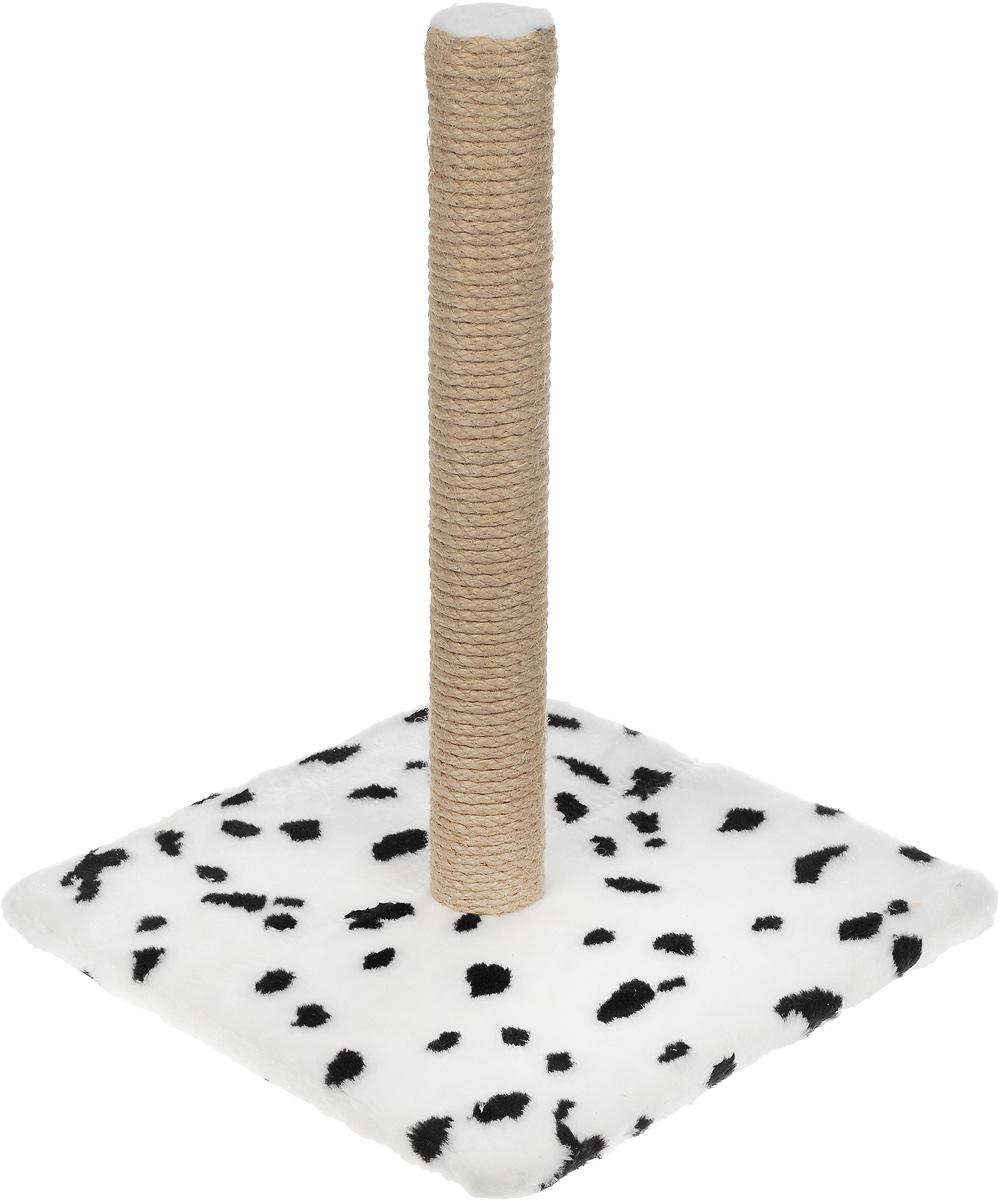 Когтеточка Меридиан на подставке цвет белый черный бежевый высота 52 см Меридиан