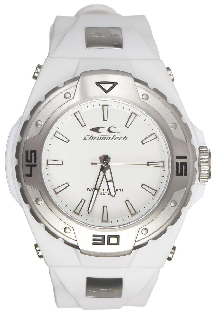 Фото - Часы наручные мужские Cronotech, цвет: белый. RW0017 браслет из каучука с тремя звездами и прострочкой на ремне