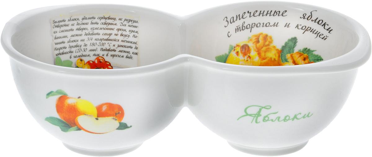 """Форма для запекания яблок LarangE """"Запеченные яблоки с творогом и корицей"""", 18,2 х 10 х 5,8 см"""