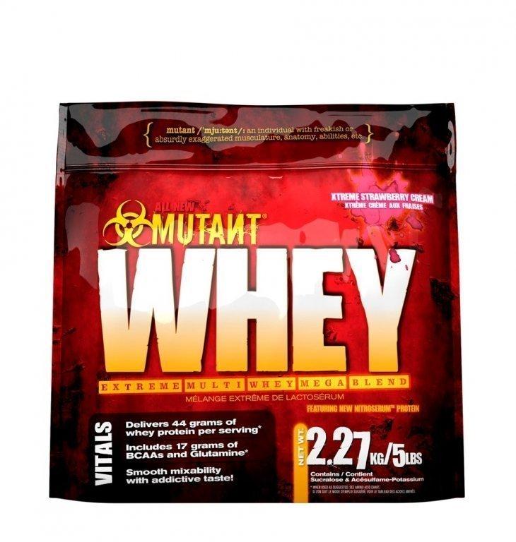 Протеин Mutant Whey, клубничный, 2270 г протеин сывороточный red star labs beowulf whey pro клубничный десерт 1 8 кг