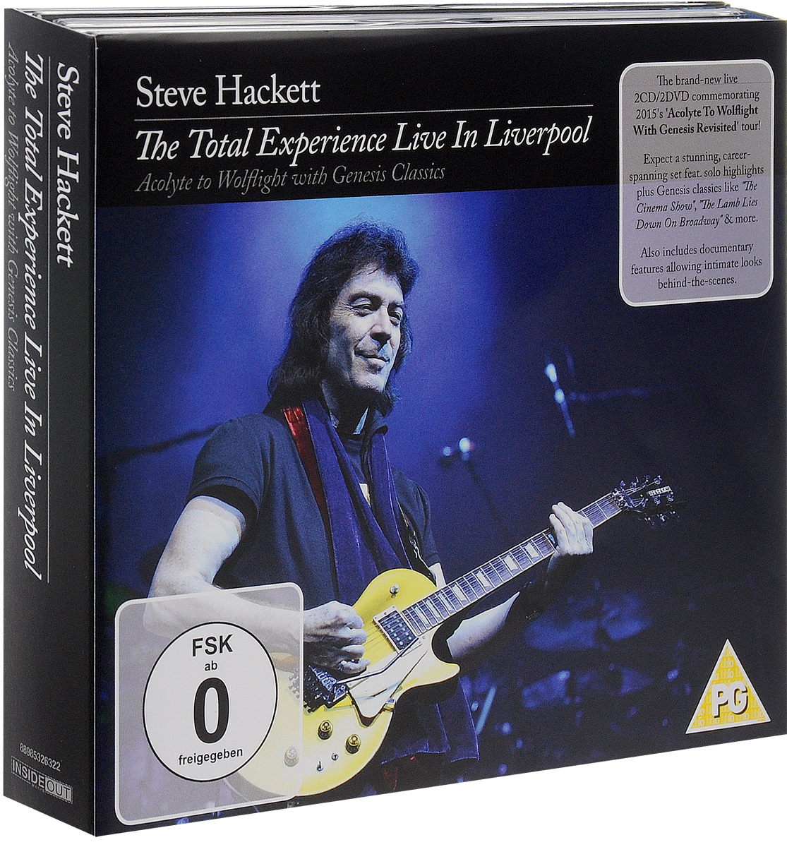 Steve Hackett. The Total Experience Live In Liverpool (2 CD + 2 DVD)
