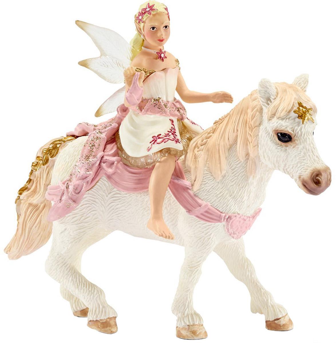 Schleich Фигурка Эльфийка Нежная Лилия верхом на пони schleich конюх и исландский пони