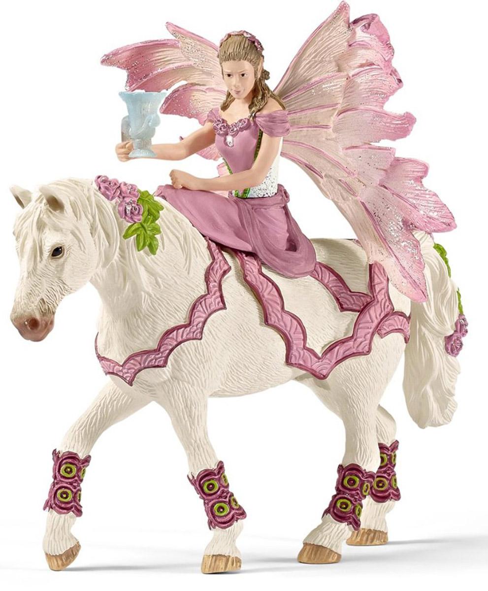 Фото - Schleich Фигурка Эльфийка Фея на лошади ролевые игры коняша лошадка на палочке фея