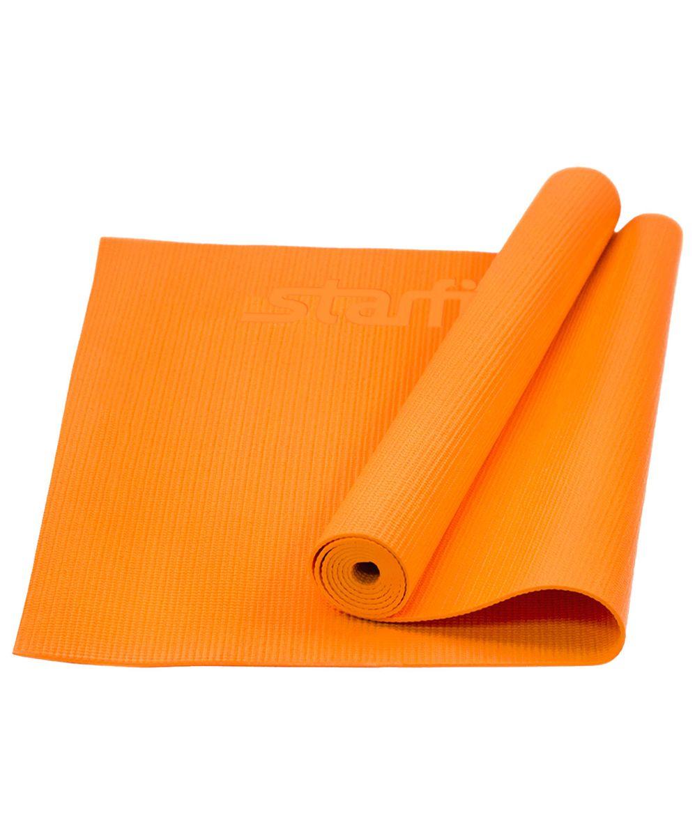 Коврик для йоги Starfit FM-101, цвет: оранжевый, 173 х 61 х 0,4 см цена