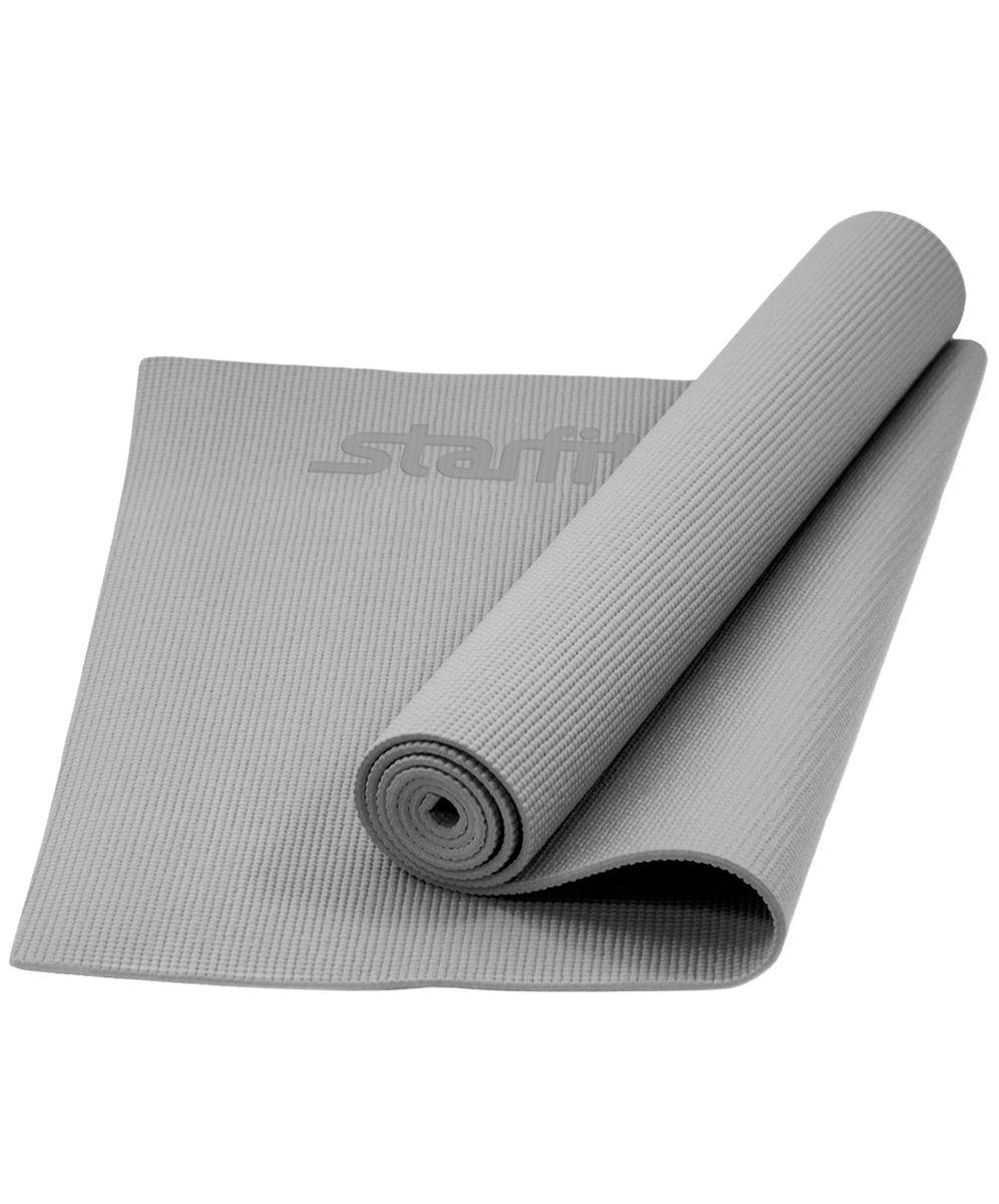 Коврик для йоги Starfit FM-101, цвет: серый, 173 x 61 x 0,5 см цена