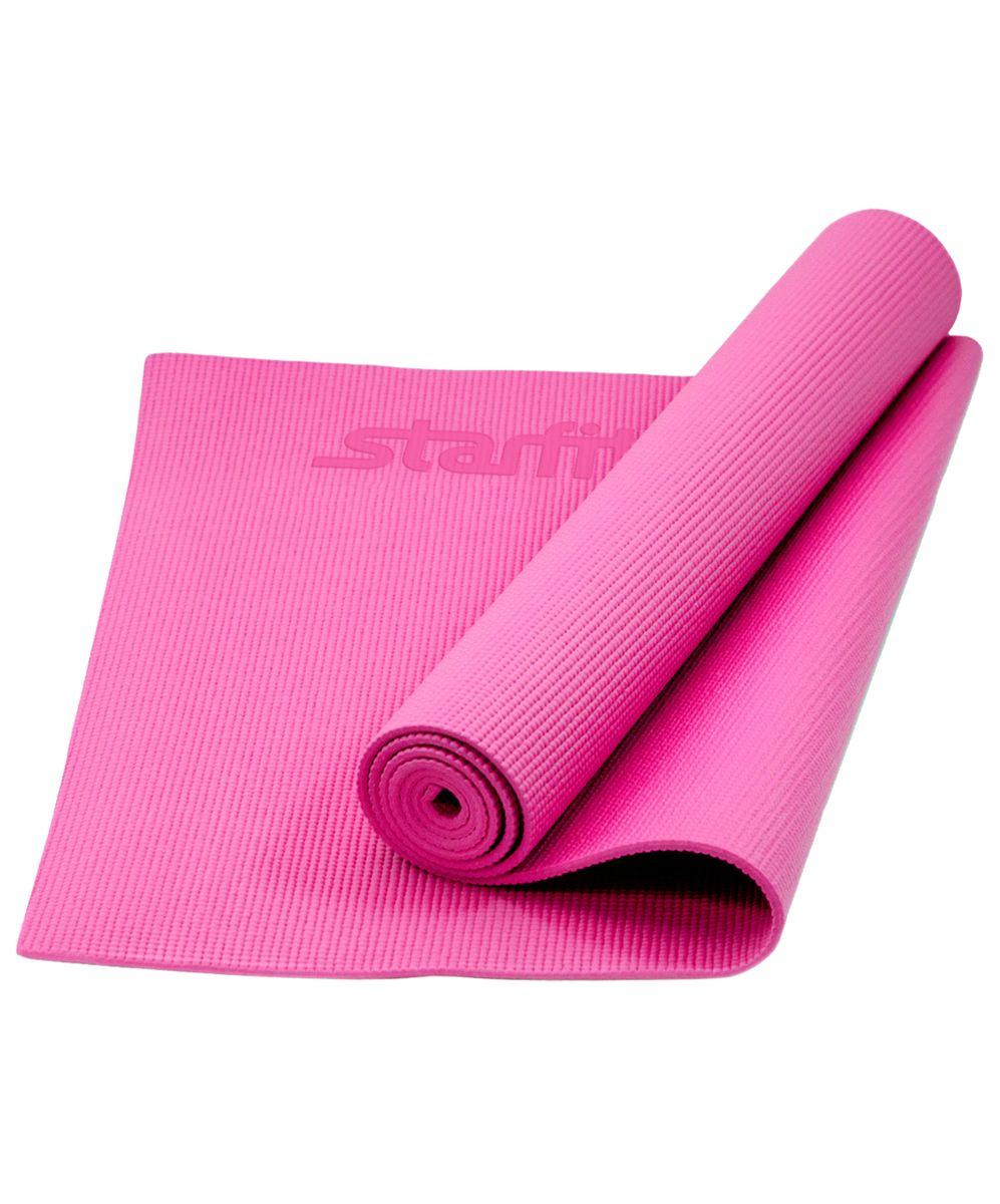 Коврик для йоги Starfit FM-101, цвет: розовый, 173 х 61 х 0,5 см цена