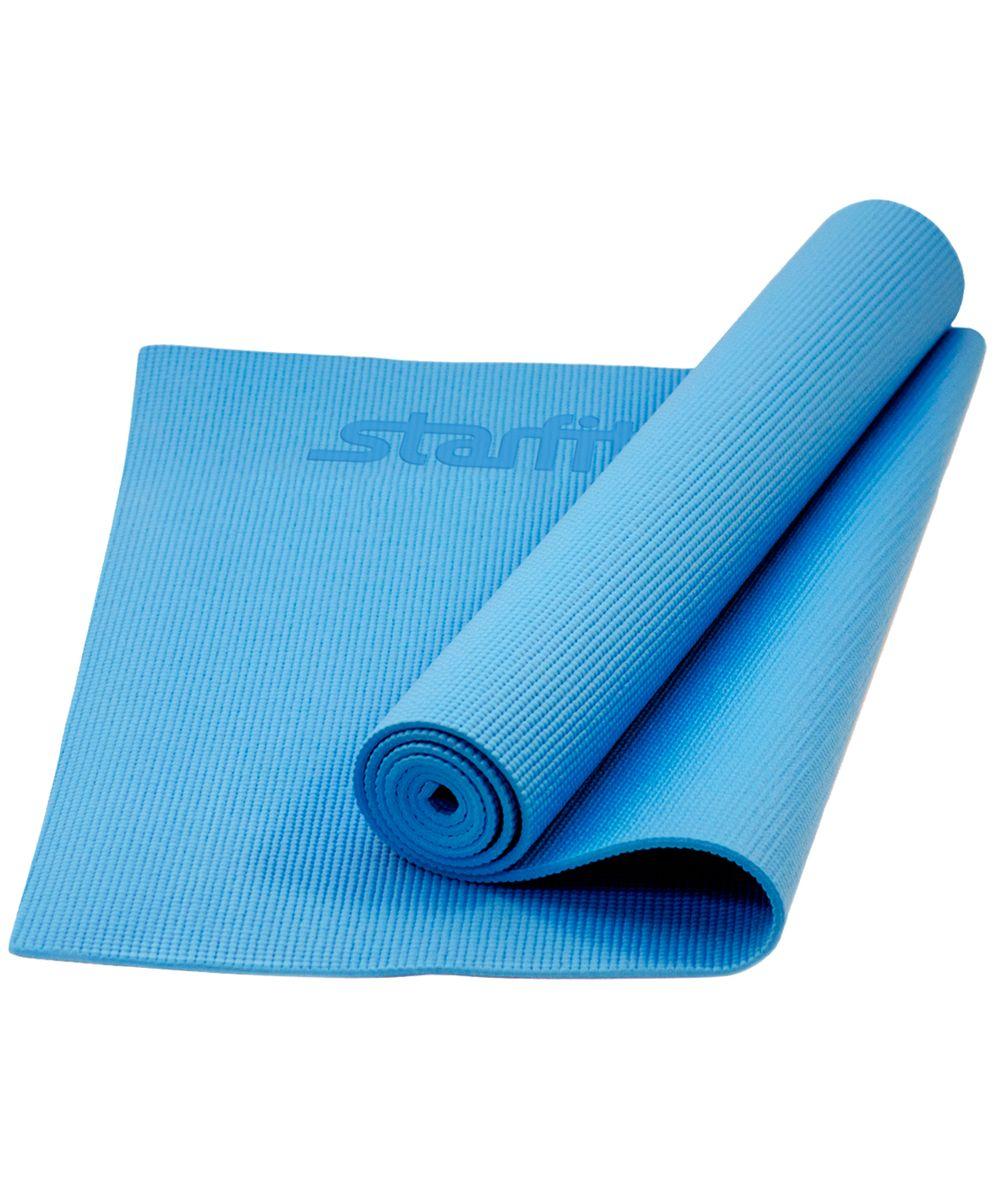 Коврик для йоги Starfit FM-101, цвет: синий, 173 х 61 х 0,6 см цена