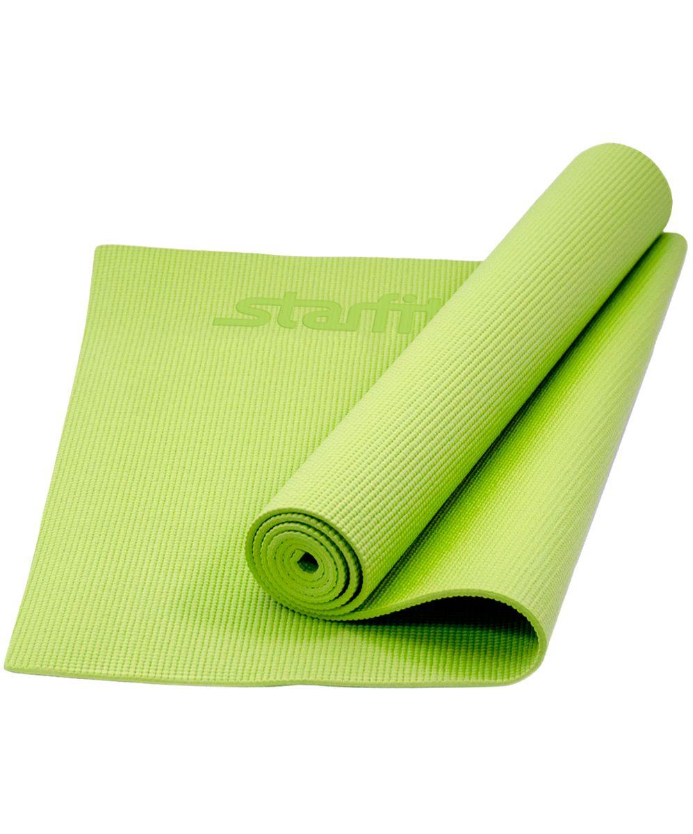 Коврик для йоги Starfit FM-101, цвет: зеленый, 173 x 61 x 0,8 см цена