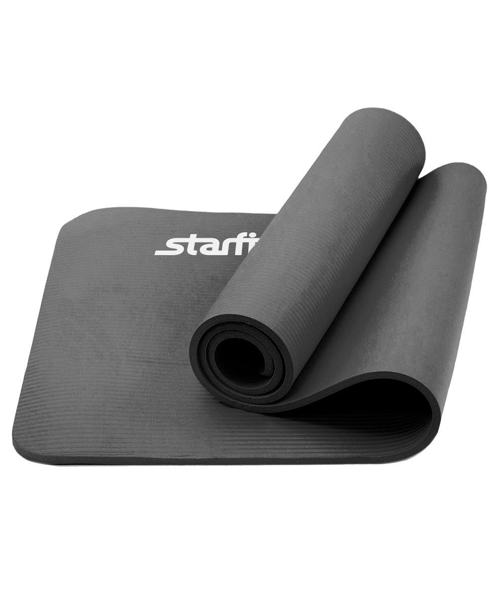Коврик для йоги Star Fit, цвет: серый, 183 x 61 см коврик для йоги onerun цвет фиолетовый 183 х 61 х 0 4 см