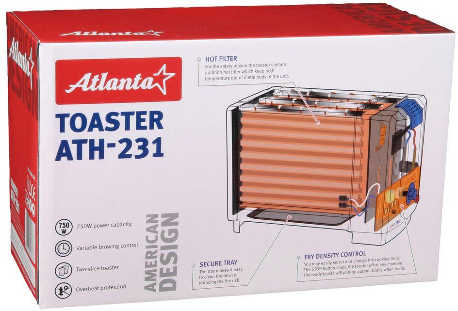 Тостер Atlanta ATH-231, White Atlanta