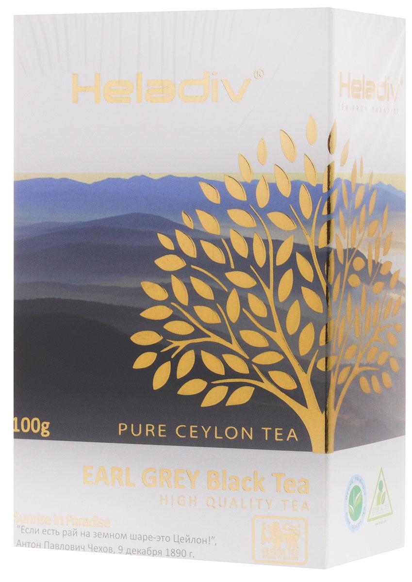 Heladiv Earl Grey чай черный листовой, 100 г jaf tea earl grey classic чай черный листовой с ароматом бергамота 100 г