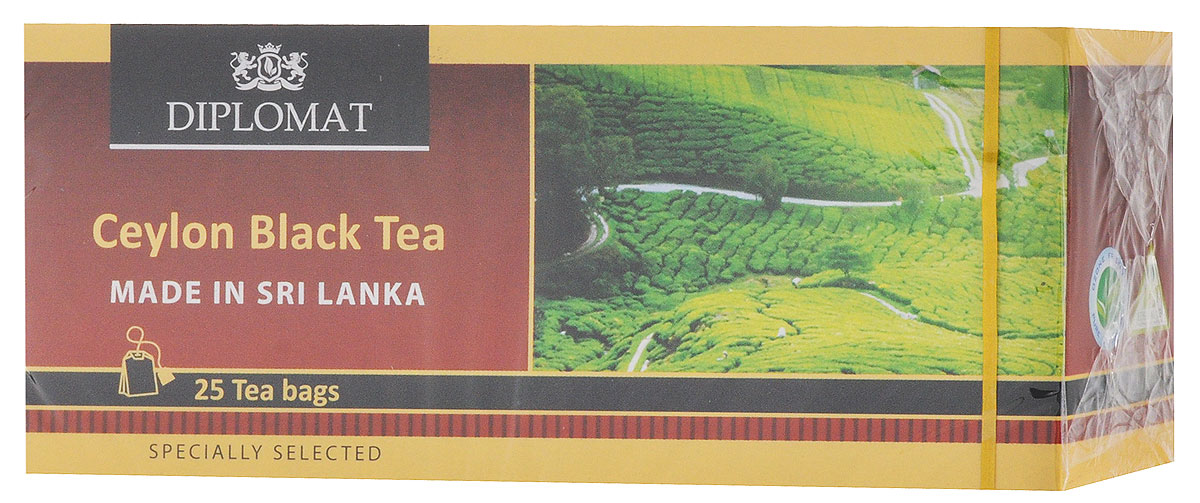 Diplomat Ceylon Black Tea Classic Blend чай черный в пакетиках, 25 шт 2015 arrival vacuum pack lapsang souchong canton village black tea 500g ceylon assam premium selection count special pearl milk