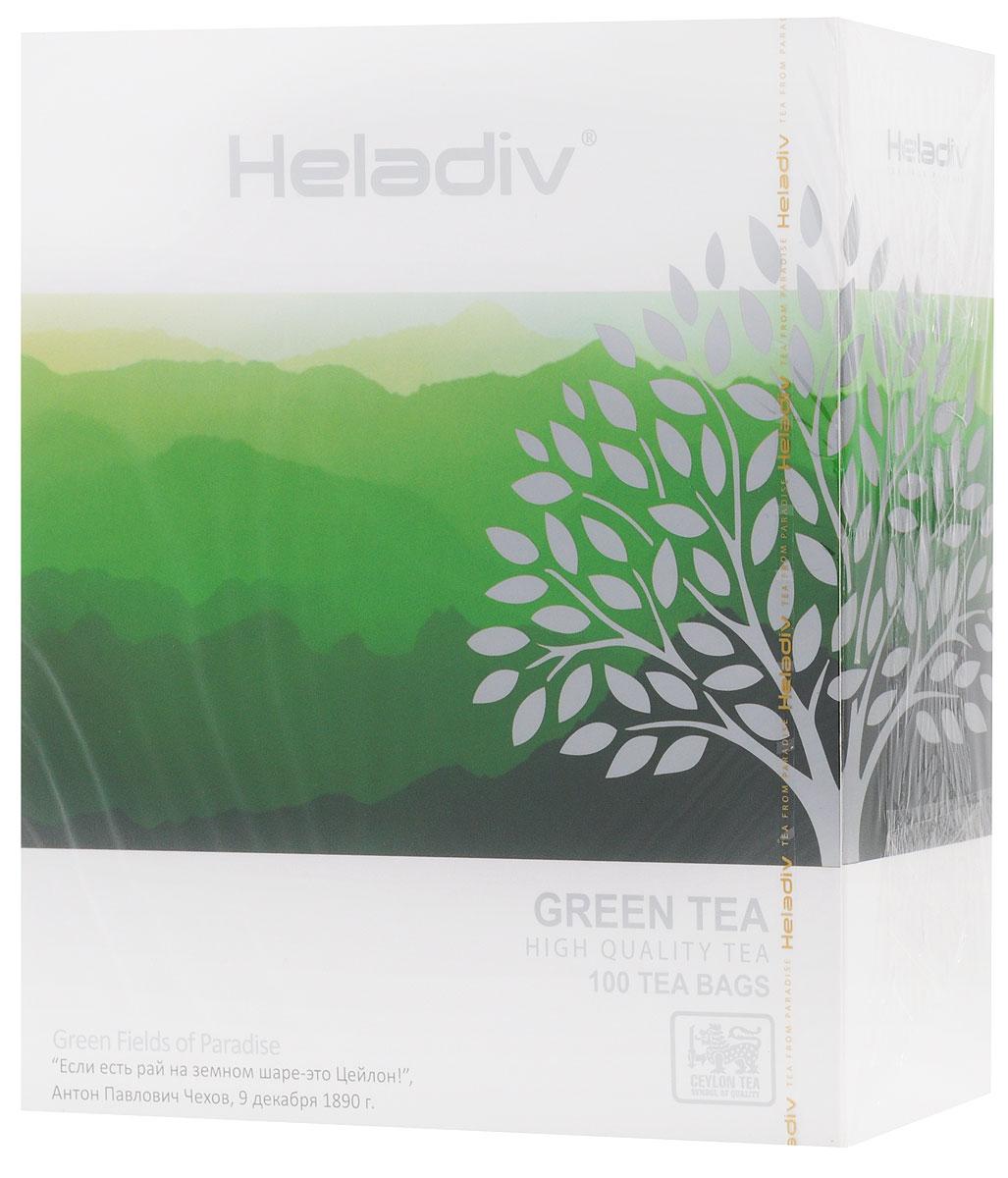 Heladiv Green Tea чай зеленый в пакетиках, 100 шт