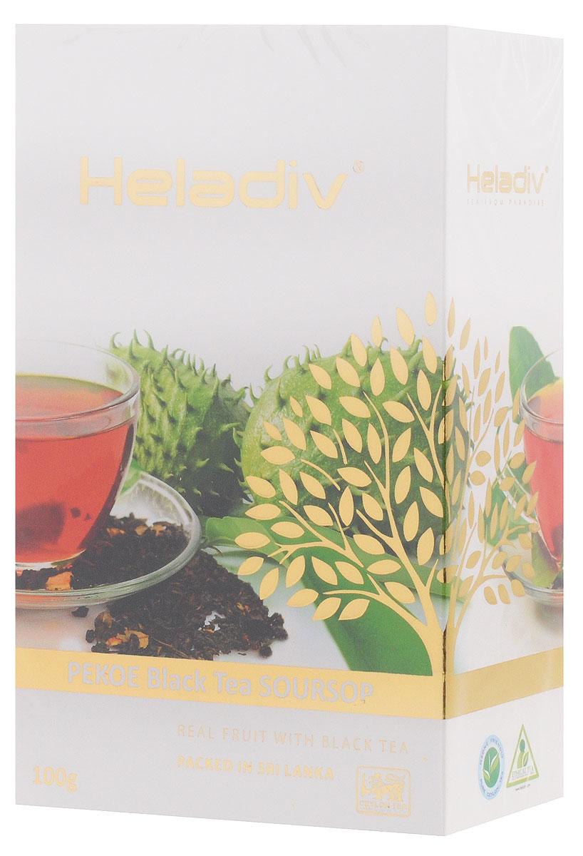Heladiv Peko Soursop Black Tea чай черный с саусепом листовой, 100 г цена